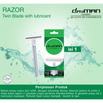 Dayman Twin Blade Razor (with lubricant/pelicin) isi 1 pcs