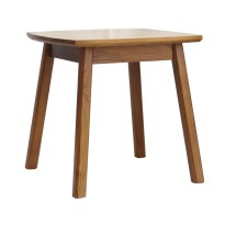 Meublemont Akita Square Side Table Meja Sisi Teak - Natural