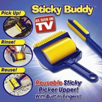 Best Sticky Buddy - Rol Pembersih & Pengangkat Bulu & Kotoran Serbaguna / As Seen on TV