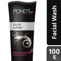 PONDS PURE WHITE DEEP CLEANSING FACIAL FOAM 100G