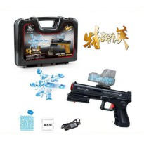Pistol Mainan Electric Repeating Water Crystal Soft Bullet Shock Gun
