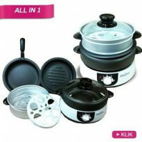 Hot! Dodawa Cooker Multi Cooker Alat Masak Set Panci 8 In 1 Dd-2180 |QQI:1942