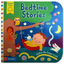 [Hellopandabooks] Bedtime Stories - Follow the Finger Trails Board Book with touch & feel textureBoo