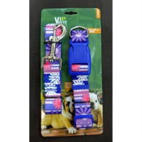 Kalung Leher  & Tali Penuntun Vip Pets  Collar & Leash Large  BY42001