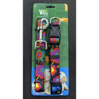 Kalung Leher & Tali Penuntun Vip Pets Collar & Leash Medium BY42018