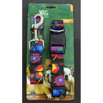 Kalung Leher & Tali Penuntun Vip Pets Collar & Leash Large BY42017