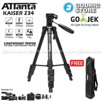 [HOT PROMO] Attanta Kaiser 234 Light Weight Tripod Video Camera DSLR with Bag