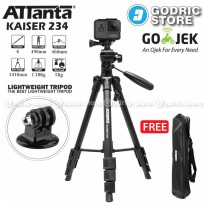[HOT PROMO] Attanta Kaiser 234 Video LightWeight Tripod DSLR Action Camera + Mount