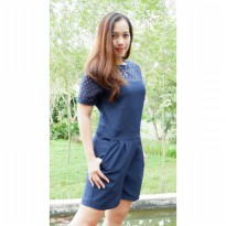 Modern Shortall Dress For Active Ladies With High quality Lace Fabric At the Yoke Part