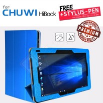 Chuwi Hibook / Hibook Pro - Silk Leather Flip Case Stand Cover