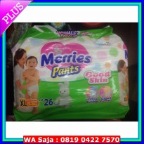 (Diaper) Popok Bayi Merries Pants Good Skin Size XL Isi 26