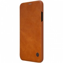 Nillkin Qin Leather Flip Case iPhone XS Max Brown