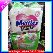 Popok Bayi Merries Pants Good Skin size M isi 34