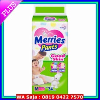 (Diaper) Pampers Merries Pants Good Skin ( M, L, XL )