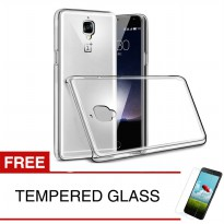 Crystal Case for OnePlus 3 / 1+3 - Clear Hardcase +  Gratis Tempered Glass