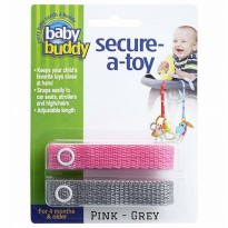 Baby Buddy Secure A Toy Pink Grey