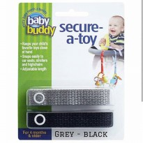 Baby Buddy Secure A Toy Grey Black