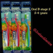 Oral B toothbrush stage 2 --- 2-4 years