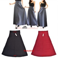Rok Panjang Sonia Dewasa Bahan Denim fit to XL