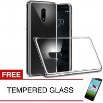 Crystal Case for Nokia 6 2017 - Clear Hardcase + Gratis Tempered Glass