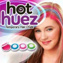 HOT HUEZ TEMPORARY HAIR CHALK PEWARNA RAMBUT TEMPORER PRAKTIS