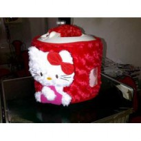 cover magic com kitty timbul / sarung rice cooker / tutup magic com
