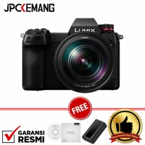Panasonic Lumix DC-S1 kit 24-105mm F/4 Free Extra Battery DMW BLJ31 + V-LOG GARANSI RESMI