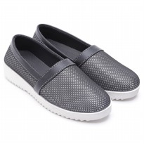 Dr.Kevin Canvas Flat Shoes Ladies Clover 43165 Black