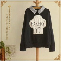 Grosir! Sweater Wanita Spandek Coklat [Bakery Shirt Ft]