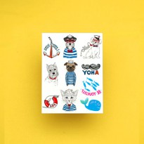 Potatoo Temporary Tattoo Set Animals Marine