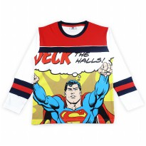 KIDS ICON - Kaos Anak Laki-laki Lengan Panjang SUPERMAN with Printing Detail - SM300700190