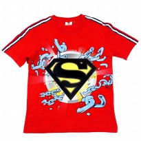 KIDS ICON - Kaos Anak Laki-laki Superman with Flocking Print and Twill Tape Detail - SM300800190