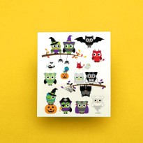 Potatoo Temporary Tattoo Set Hallowen Owls