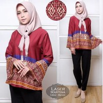 Grosir! Blouse Muslim Balotelly Maroon [Blouse Laser Martina Maron Tl]