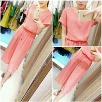 Grosir! Jumpsuit Wanita Beloteli Salem [Jumsuit Agnes Peach Ak]