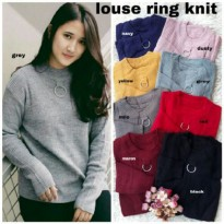 Grosir! Sweater Wanita Rajut Var Color [Louse Ring Knit Ro]