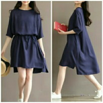 Grosir! Dress Wanita Twiscont Navy [Lea Navi Ro]