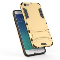 Case Oppo f3 Ironman Hybrid With Kick Stand