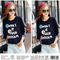 Grosir! Sweater Wanita Babyterry Navy [Dream Sweater Ak]