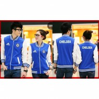 Grosir! Jaket Couple Babyterry Benhur Kombi Putih [Couple Jaket Chelsea Cl]