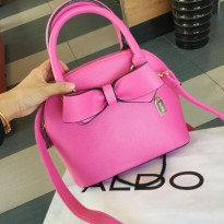 ALD0 - ORIGINAL! Aldo Ribbon Vezara Handbag With Sling (IN STOCK PINK)