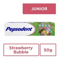 Pepsodent Pasta Gigi Susu Strawberry Bubble 50 gram
