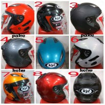HELM KYT GALAXY SLIDE SOLID 9 WARNA