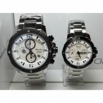 Alexandre Christie Couple 6410MCBF Silver Stainless White