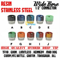 Hybrid Resin Stainless Steel Wide Bore Drip Tip | TFV8 GOON KENNEDY