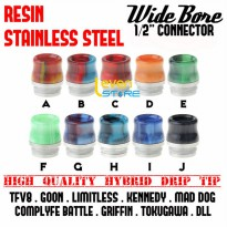 Hybrid Resin Stainless Steel Wide Bore Drip Tip | TFV8 GOON LIMITLESS