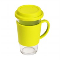 Glasslock RC106 Green Glass Tumbler with Handle Gelas [500 mL]