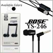 Headset Handsfree Bose YS-246 Earphones Stereo Extra Bass Universal