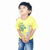KIDS ICON - Kaos Anak Laki-laki LOONEY TUNES Yellow T-Shirt - LB1K0300190
