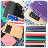 FLIP COVER UME SMARTFREN ANDROMAX R LEATHER FLIP SOFT CASE SMARTFREN R